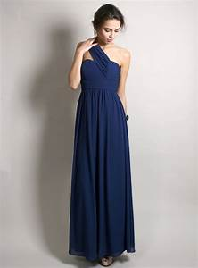 one shoulder navy blue bridesmaid dresses to inspire you With navy blue dress for wedding