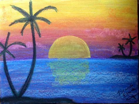 sunset viola oil pastel  brandi smith absoluteartscom