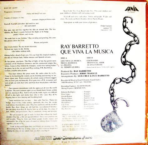 vitacongusto barretto que viva la musica on fania 1972