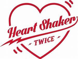 """""""TWICE Heart Shaker Logo"""" Stickers by kpopbuzzer Redbubble"""