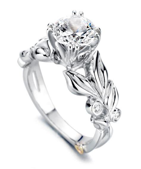 black engagment ring flora floral engagement ring schneider design