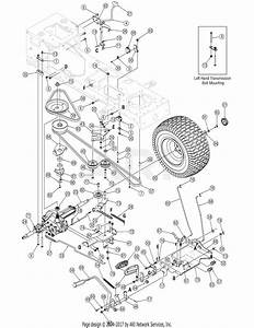 Troy Bilt 13ax60tg766 Super Bronco  2006  Parts Diagram For Drive