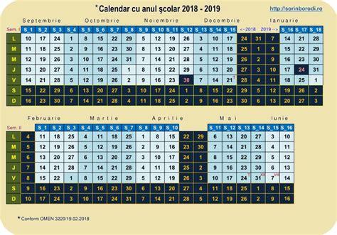 calendar cu anul scolar de valma