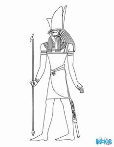 Horus Egyptian goddess & gods Coloring Page | Coloring ...