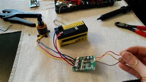 12 36v brushless motor controller board test