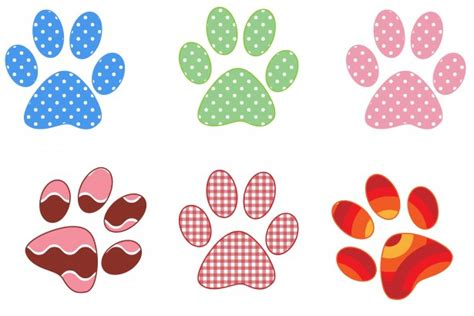 paw prints colorful patterns  stock photo public