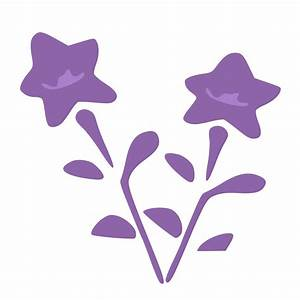 Purple flowers Vector Clipart image - Free stock photo ...