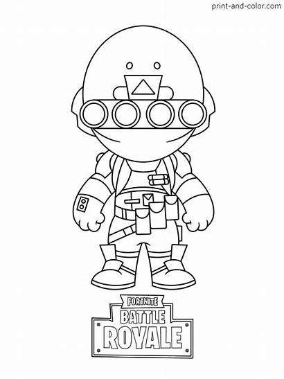 Fortnite Coloring Pages Sheets Printable Battle Royale