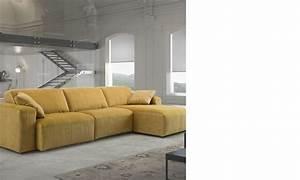 canape d39angle jaune relax electrique en tissu With canapé d angle jaune