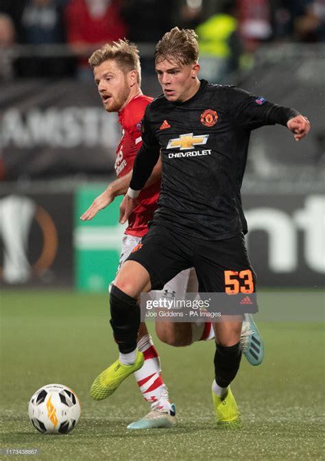 Manchester United's Brandon Williams and AZ Alkmaar's ...