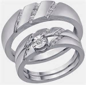 wedding ring sets his and hers his and hers trio wedding ring sets 500 dollars images