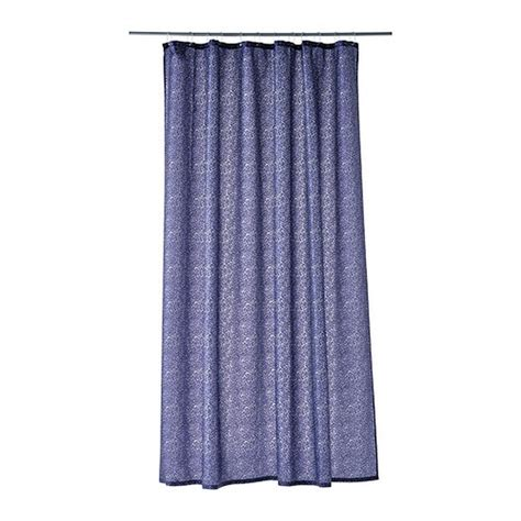 shower curtains ikea ikea gudingen blue white floral fabric shower curtain