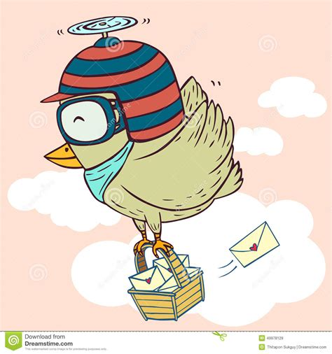 delivery bird stock vector image 49978129