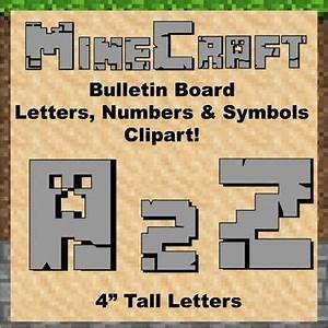 clip art minecraft and bulletin boards on pinterest With cut out letters for bulletin boards