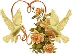 coeur de mariage image colombe coeur oiseau mariage fleur pour la creation numerique au format gif