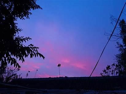 Langit Senja Biru Kebebasan Terlupakan Tak Yang