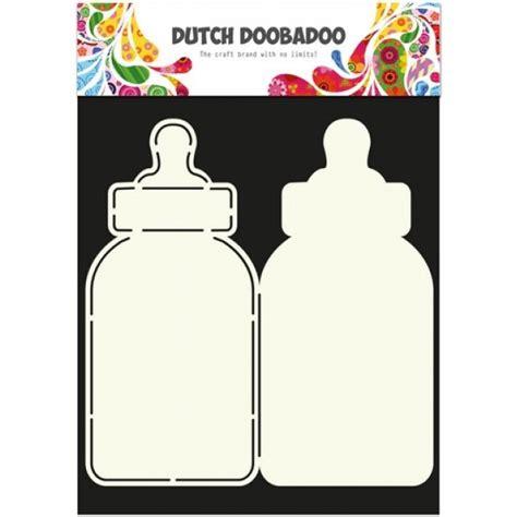 dutch card art schablone babyflasche  baste welt