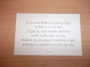 books instead of cards for baby shower poem 10 mini wedding poem cards vouchers honeymoon donation