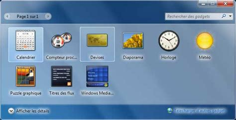 horloge bureau pc comment avoir des gadgets windows 7
