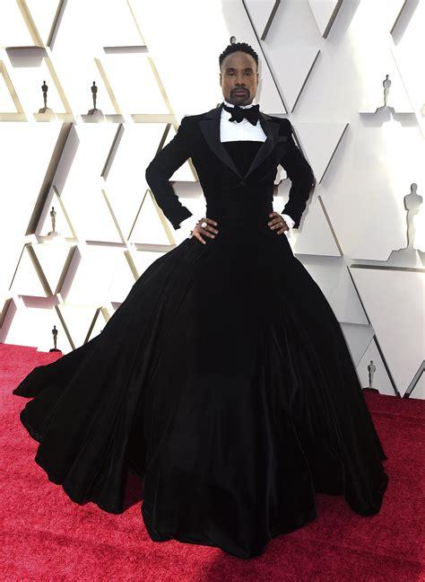 Actor Billy Porter Wore Tuxedo Dress The Oscars