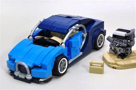 Bugatti vision in 8 wide speed champions style. LEGO Bugatti Chiron in sieben Noppen Breite