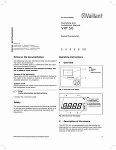 Vaillant Vrt 230 Operating And Installation Manual