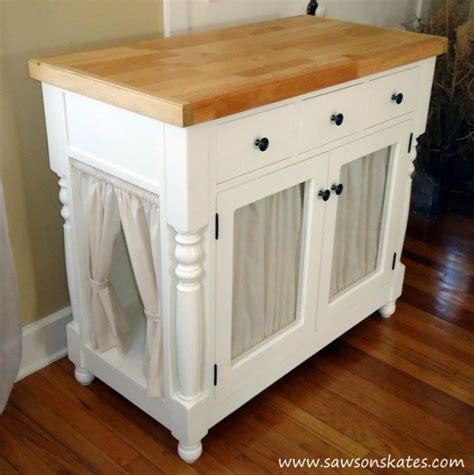 restoration hardware console table diy litter cabinet from a kitchen island