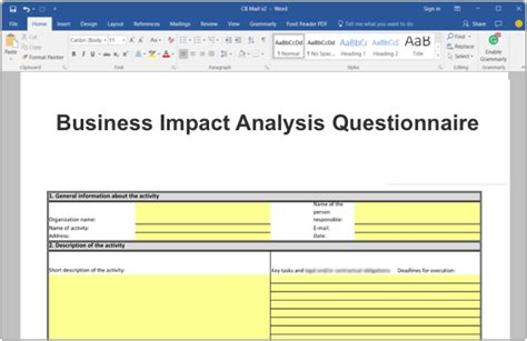 iso  business impact analysis bia toolkit