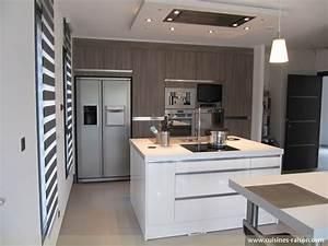 cuisine avec frigo americain iv66 jornalagora With cuisine avec frigo americain integre