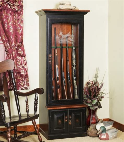 Deer Cabinets by Deer Creek 6 Gun Cabinet Amish Made Gun Cabinet