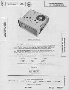1958 Silvertone 8074 Reel To Reel Tape Recorder Service