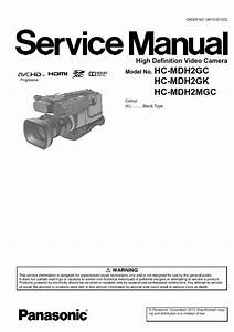 Panasonic Hc Mdh2 Mdh2m Camcorder Service Manual And