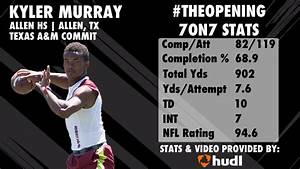 The Opening KYLER MURRAY 7on7 Highlights YouTube