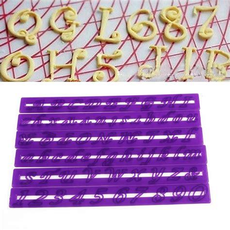 6pcs alphabet number letter cake decorating mold fondant best 25 fondant numbers ideas on fondant 60705