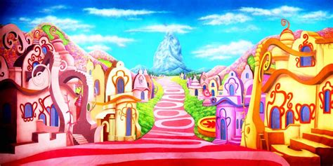 Grinch Backdrop by Whoville Scenic Stage Backdrop Rental Theatreworld