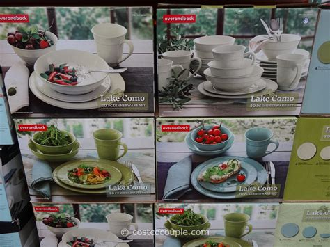 dinnerware lake como costco dishes table stoneware linens settings sets decor pieces costcocouple appliances vary subject pricing inventory change any