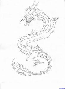 Chinese Dragon Drawing - Pencil Art Drawing