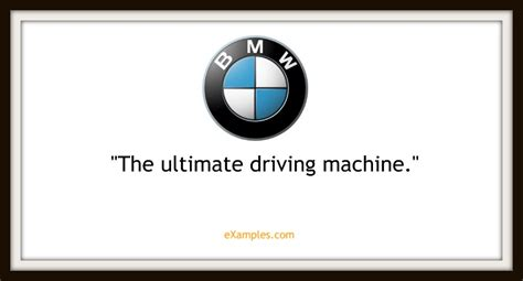 Bmw Slogan by 109 Company Taglines And Slogans And How To Make