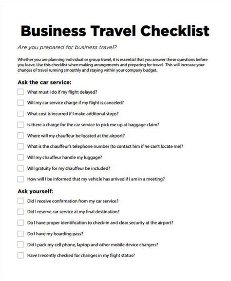 travel checklist template travel checklist templates 11 free sles exles format free premium templates