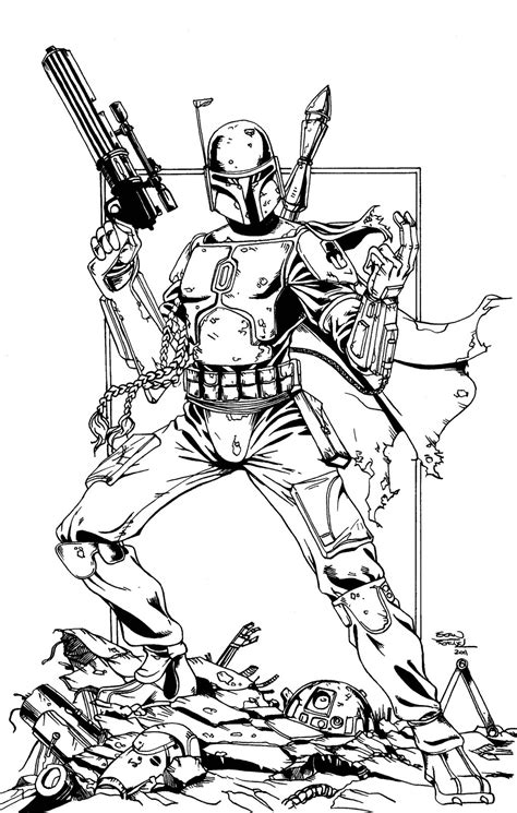 Boba Fett Coloring Pages Printable