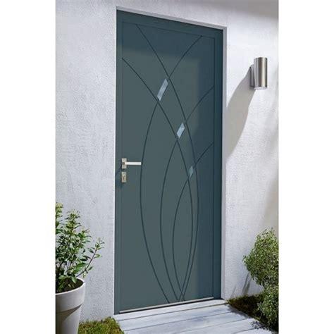 zoe home interior porte d 39 entrée alu zoé gris castorama concernant porte