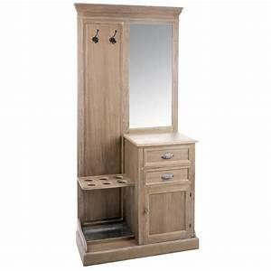 Vestiaire D Entrée : meuble vestiaire 93cm bois gris patin blanchi paolia ~ Teatrodelosmanantiales.com Idées de Décoration
