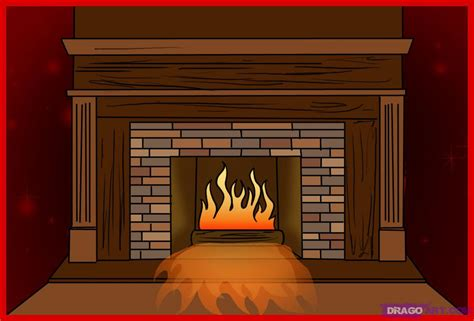 How To Draw A Fireplace, Step By Step, Stuff, Pop Culture