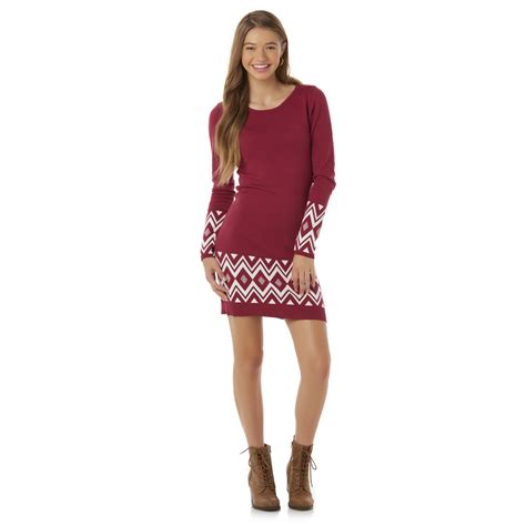 junior sweater dresses bongo juniors 39 fitted sweater dress tribal