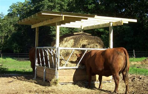 vl  cattle hay feeder save money time klene pipe structures