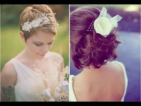 idees coiffure mariage sur cheveux courts youtube