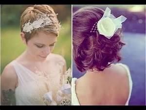 Coiffure Mariage Cheveux Court : 50 id es coiffure mariage sur cheveux courts youtube ~ Dode.kayakingforconservation.com Idées de Décoration