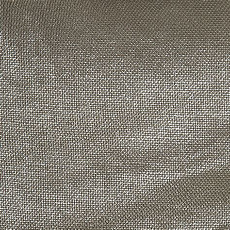 Metallic Upholstery Fabric by Metallic Silver Coated Taupe Linen Fabric Contemporary