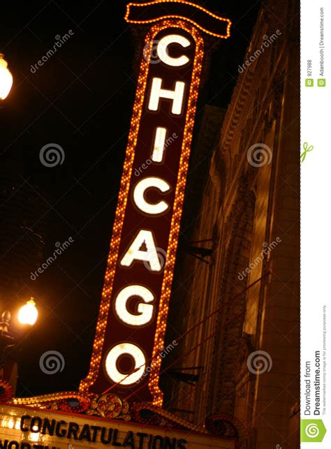 chicago sign royalty  stock  image