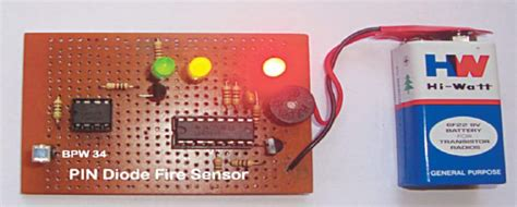 Pin Diode Based Fire Sensor Detailed Project Available